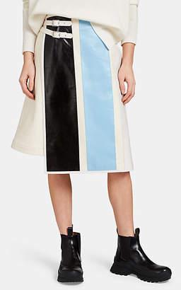 Jil Sander Women's Layered Mixed-Media Skirt - White