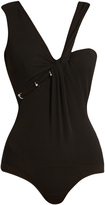 Thierry Mugler Asymmetric-neckline sleeveless bodysuit