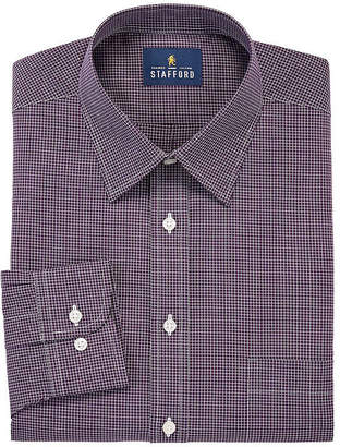 STAFFORD Stafford Mens Point Collar Long Sleeve Wrinkle Free Stain Resistant Dress Shirt