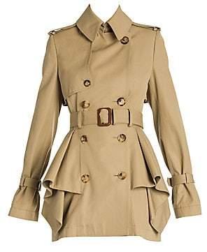 Alexander McQueen Women's Ruffle Peplum Trench Coat
