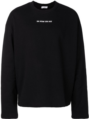 Ih Nom Uh Nit David Bowie print sweatshirt