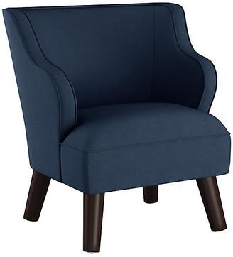 One Kings Lane Kira Kids' Accent Chair - Navy Linen