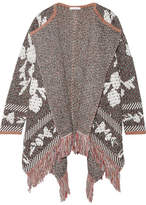 See by Chloe Fringed Cotton-blend Jacquard Cardigan - Gray