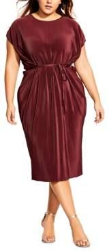 City Chic Trendy Plus Size Baby-Pleat Midi Dress
