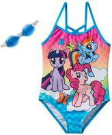 Girls 4-6x My Little Pony Twilight Sparkle, Rainbow Dash & Pinkie Pie One-Piece Swimsuit