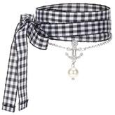 Miu Miu Crystal-embellished Silver Bracelet