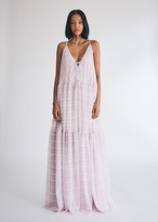 Jacquemus Women's La Robe Mistral Dress in Pink Check, Size 34