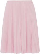 Prada Pleated Crepe De Chine Skirt - Pastel pink