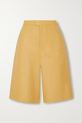REMAIN Birger Christensen Manu Leather Shorts - Pastel yellow