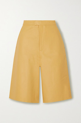 Remain Birger Christensen REMAIN Birger Christensen - Manu Leather Shorts - Pastel yellow