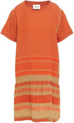 Cecilie Copenhagen Gathered Cotton-jacquard Mini Dress