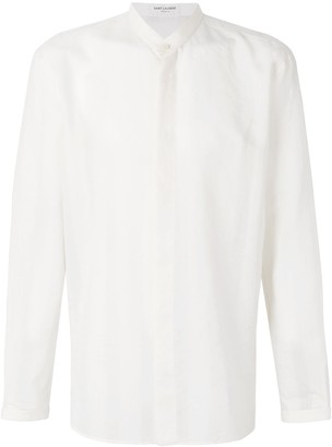 Saint Laurent Mandarin Collar Shirt