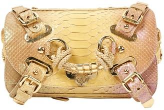 Versace Gold Python Clutch bags