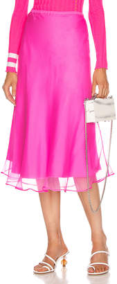 Maggie Marilyn Because We Can Midi Skirt in Fluro Pink | FWRD