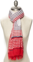 Tommy Hilfiger Final Sale-Abstract Printed Boats Scarf