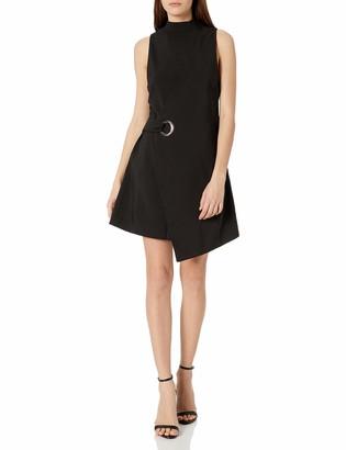 MinkPink Women's Eyelet Wrap Dress