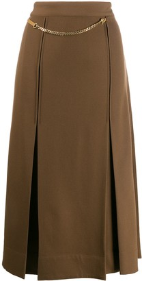 Victoria Beckham Chain Detail Pleated Skirt