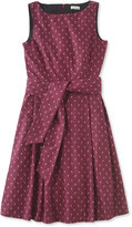 L.L. Bean Signature Poplin Dress, Holiday Print