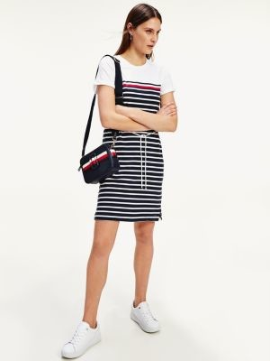 Tommy Hilfiger Stripe Crew Neck T-Shirt Dress