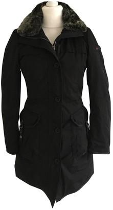 Peuterey Black Wool Coat for Women
