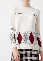 MANGO Rhombus Design Sweater