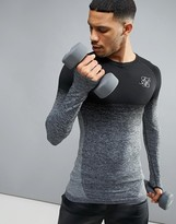 SikSilk Compression Long Sleeve T-Shirt In Black