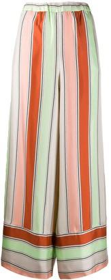 Pierre Louis Mascia Wide Leg Striped Pattern Trousers