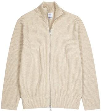 NN07 Piet sand ribbed-knit jumper