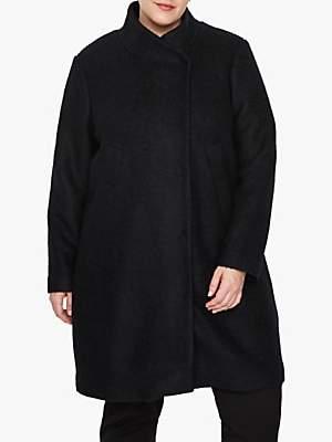 I.Scenery Curve Allon Coat, Black