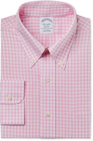 Brooks Brothers Men's Regent Classic-Fit Non-Iron Pink Plaid Dress Shirt