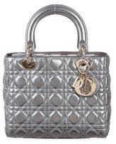 Christian Dior 2017 Metallic Calfskin Medium Lady Bag