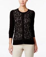 Charter Club Sequined Lace Cardigan, Only at Macy's