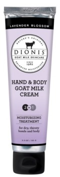 Dionis Hand Body Goat Milk Cream, Lavender Blossom, 3.3 oz