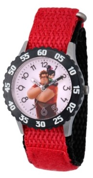 EWatchFactory Boy's Disney Red Stainless Steel Time Teacher Strap Watch 32mm