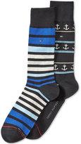 Tommy Hilfiger Men's 2-Pk. Anchor Crew Socks