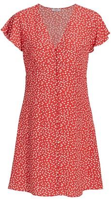 Rails Helena Floral Flutter-Sleeve A-Line Dress