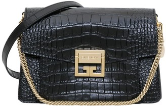 Givenchy Gvb3 Small Bag In Crocodile Embossed Leather