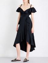 Temperley London Carnation cold-shoulder crepe dress