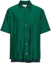 Sacai Silk shirt with grid pattern