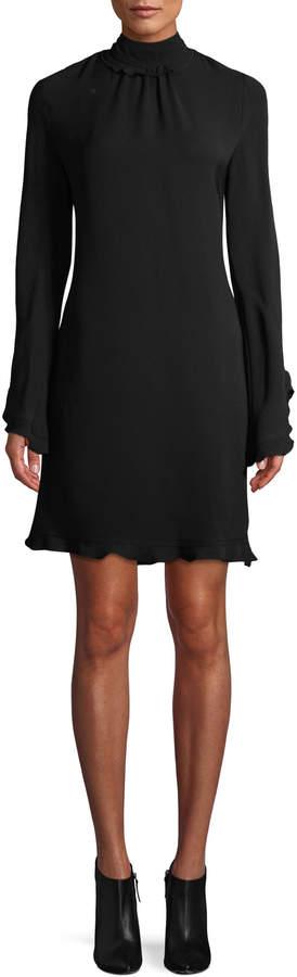 Derek Lam Women's Open-Back Ruffle Dress