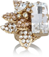 Swarovski Bijoux Heart La Terre D'Or gold-plated crystal ring