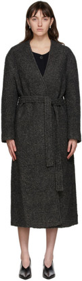 LE 17 SEPTEMBRE LE17SEPTEMBRE Grey Collarless Coat