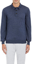 Brunello Cucinelli Men's Wool-Cashmere Sweater-BLUE