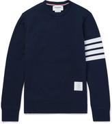Thom Browne - Striped Loopback Cotton-jersey Sweatshirt