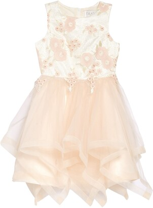Blush by Us Angels Embroidered Floral Organza Dress