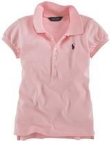 Ralph Lauren Girls' Mesh Polo Knit Top - Sizes S-XL