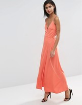 Asos Wrap Cami Maxi Dress