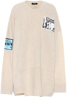 Raf Simons Appliqued wool sweater