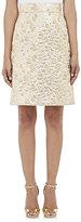 Dolce & Gabbana WOMEN'S METALLIC JACQUARD A-LINE SKIRT-TAN SIZE 40 IT
