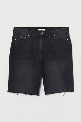 H&M H&M+ Denim Shorts High Waist - Black